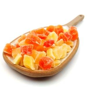 Mix frutas deshidratadas en dados