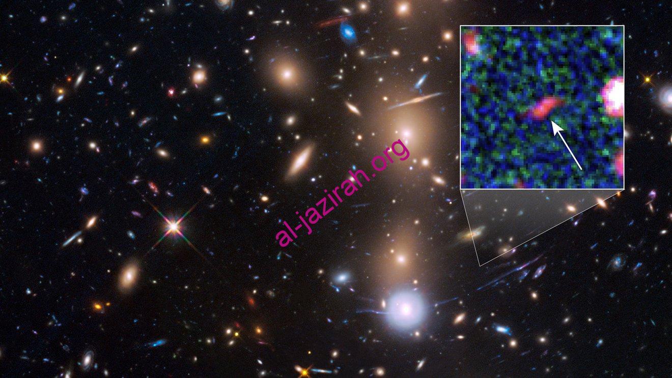 تلسكوبات ناسا الفضائية شاهد صورة مكبرة لأضعف مجرة من الكون المبكر