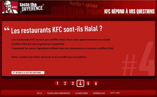 KFC n'affirme plus que son poulet est halal