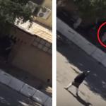 فيديو لحظة هروب المصلين اثناء حدوث العملية الارهابية