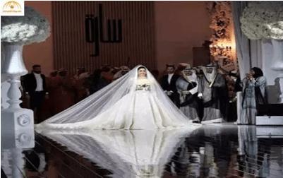 بالصوروالفيديو : سارة الصباح تتوج ملكة في حفل زفاف أسطوري