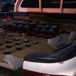 بالصور: سعودي يصدم دوريتين ويحاول الهروب ب 180 زجاجة خمر