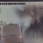 شاهد: لحظة تفجير حافلة تركية في منطقة نصيبين