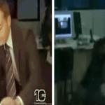 بالفيديو:شاهد..نشوب مشاجرة عنيفة  خلف مذيع نشرة الأخبار