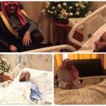 بالصور:الوليد بن طلال والربيعة وعدد من المشايخ يزورون الشيخ عائض القرني