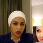 """بالفيديو : فتاة مصرية تسخر من أنجلينا جولي بعد طلاقها وتصفها بـ""""خطّافة الرجال"""""""