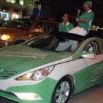 المرور : تغيير لون السيارة للاحتفال باليوم الوطني مخالفة
