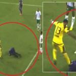 """بالفيديو .. حارس الإمارات """"علي صقر"""" يعتدي على """"اسبريلا"""" لاعب العين بشكل عنيف"""