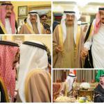بالصور : خادم الحرمين الشريفين يستقبل رئيس وزراء البحرين