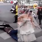 بالفيديو .. شاهد ماذا فعلت عروس مع عريس حاول الهرب ليلة زفافه !!