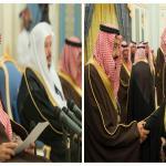 بالصور:أمام خادم الحرمين..رئيس وأعضاء مجلس الشورى يؤدون القسم