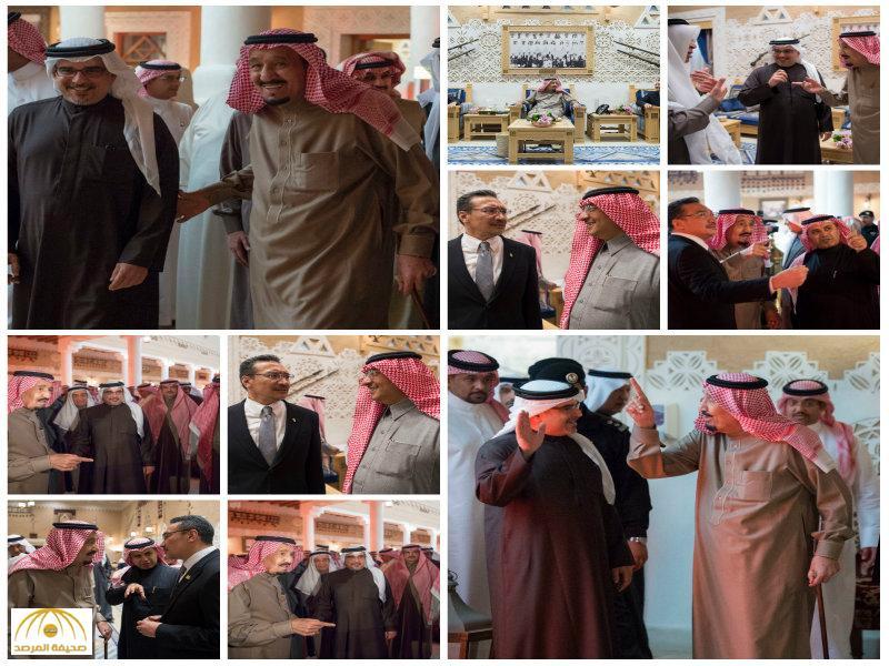 بالصور:الملك يستقبل ولي عهد البحرين ووزير الدفاع الماليزي
