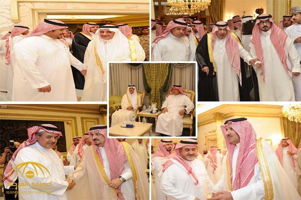بالصور : أبناء الأمير مشعل بن عبدالعزيز يستقبلون المعزين