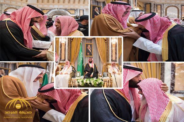 """شاهد بعدسة """"واس"""" لحظة مبايعة الأمراء ومفتي المملكة والمواطنين ولي العهد"""