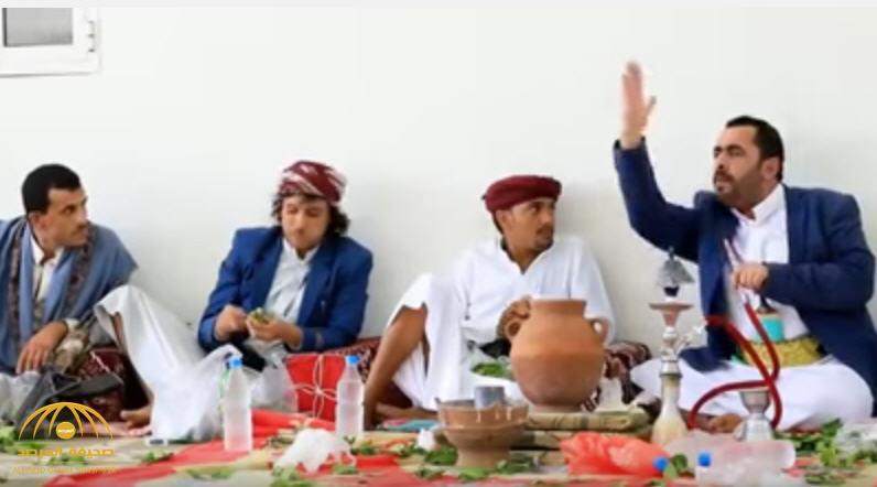 """شاهد:فيديو يكشف كيف يتآمر الحوثيون على الحرمين الشريفين من خلال وليمة """"قات"""""""
