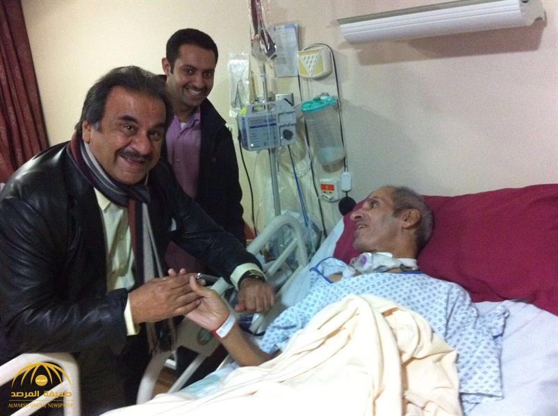 """لحظة الوداع..هذا ما فعله """"عبدالحسين عبدالرضا"""" تجاه مرضى كويتيين في لندن قبل رحيله! -صور"""