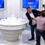 بالفيديو .. شاهد كيف تحول لقاء سياسي على الهواء إلى حلبة ملاكمة