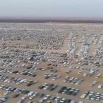 """شاهد.. مئات السيارات من قبيلة قحطان في طريقهم للتضامن مع شيخ قبيلة """" الهواجر"""".. ومغردون : كيف المنظر يوم الجمعة؟"""