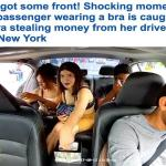 """بالفيديو : شاهد عميلة لشركة """"أوبر"""" تسرق نقود السائق قبل نزولها في نيويورك"""