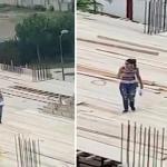 بالفيديو.. ردة فعل سعودي شاهد  مهندسة حسناء تشرف على أحد المباني في لبنان