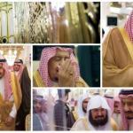 بالصور : خادم الحرمين الشريفين يصل المدينة المنورة ويزور المسجد النبوي