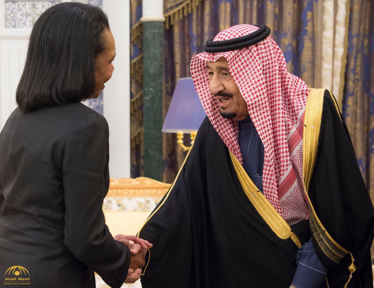 """بالصور:خادم الحرمين يستقبل وزيرة الخارجية الأمريكية الأسبق """"كونداليزا رايس"""""""
