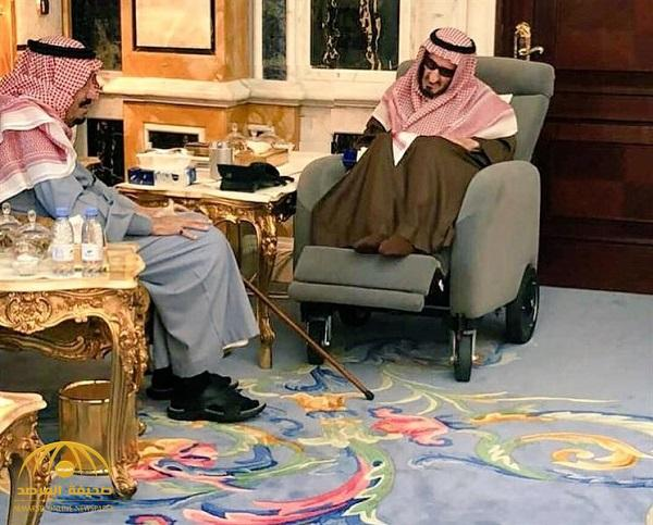 بالصور .. الملك سلمان يزور أخاه الأكبر الأمير بندر بقصره في الرياض
