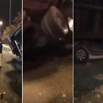 حادث مروع.. بالفيديو: لن تصدق كيف خرج شاب سعودي من داخل سيارته بعد سحقها بالكامل عبر شاحنة!