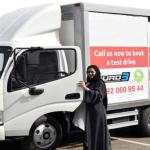 """""""سعوديات"""" يقتحمن عالم الشاحنات في إحدى الشركات الوطنية !"""