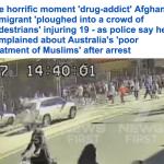 """شاهد كاميرا مراقبة توثق لحظة دهس السائق """"الأفغاني"""" لعدد من المارة في ملبورن الأسترالية"""