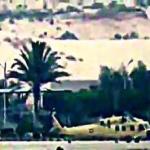 شاهد .. أول فيديو لحظة استهداف داعش لطائرة وزيري الدفاع والداخلية المصريين في مطار العريش