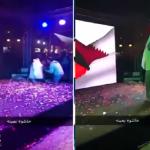 سقط على المسرح وهو يغني.. شاهد: لحظة انفجار ألعاب نارية في وجه فنان كويتي!