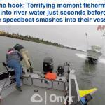 """لحظات تكتم الأنفاس.. اصطدام قاربين في نهر """"كولومبيا"""".. شاهد: رد فعل الصيادين!"""