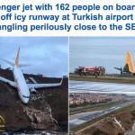 """بالصور و الفيديو : ركاب طائرة """"محظوظون"""" ينجون من كارثة"""