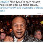 مايك تايسون يشتري أرض لزراعة الحشيش  وينشئ مدرسة لتعليم  تنمية نبات الماريجوانا!