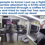 شاهد.. شاب يقتحم مقهى ويختطف بائعة لاغتصابها في أمريكا!