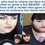 بالصور: شاهد .. فتاة أمريكية بلحية كثيفة