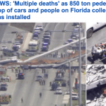 بالفيديو والصور: قتلى ومصابون في انهيار جسر بميامي