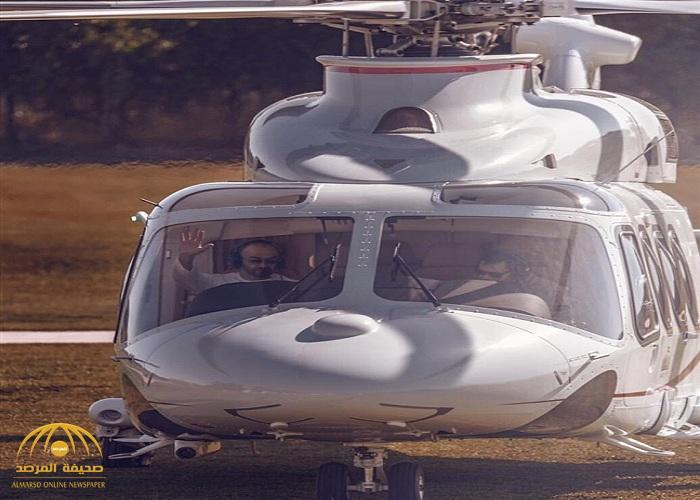 شاهد.. الشيخ محمد بن زايد يستقل طائرة عسكرية