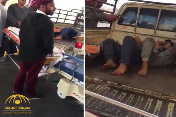 بالفيديو : نقل مصابين في صندوق سيارة خاصة .. وصحة عسير تكشف الملابسات