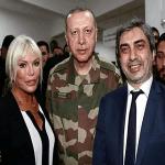 """بالصور والفيديو :شاهد أردوغان """"يرتدي الزي العسكري"""" أثناء زيارة قادة الجيش التركي على الحدود مع سوريا"""