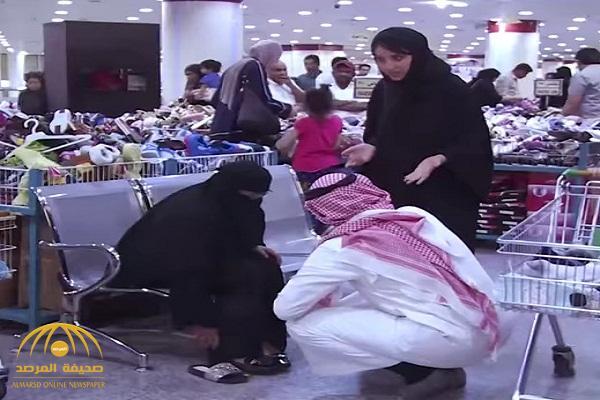 بالفيديو .. شاهد ردة فعل متسوقين تجاه امرأة تسب زوجها ووالدته في محل تجاري