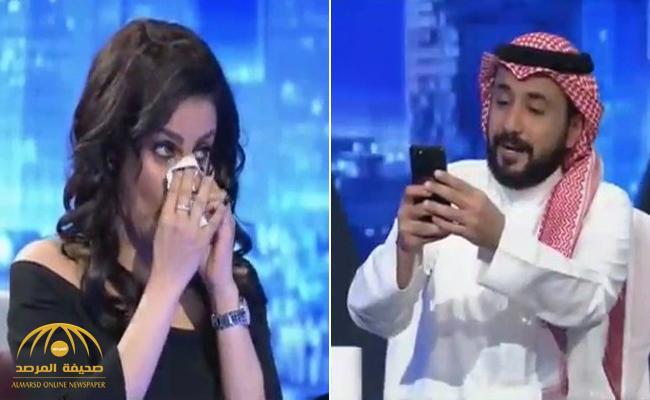 """فيديو: الفنانة """"مرام عبدالعزيز"""" تقبل تحدي """"طارق الحربي"""" وتزيل الماكياج والرموش على الهواء … شاهد كيف أصبحت !"""