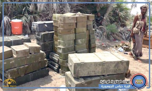 بالصور.. شاهد ترسانة صواريخ وأسلحة تركها الحوثيين قبل فرارهم