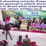 شاهد.. شخص يقتحم كنيسة ويطلق النار على القس في البرازيل