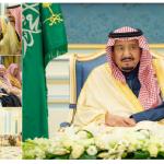 بالصور .. خادم الحرمين يستقبل الأمراء والمفتي ورئيس مجلس الشورى والعلماء وجمعاً من المواطنين