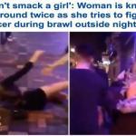 شاهد بالفيديو: حارس ملهى ليلي في بريطانيا  يعتدي على فتاة ويسقطها على الأرض