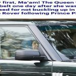 """شاهد .. ردة فعل ملكة بريطانيا أثناء قيادتها """"رينج روفر"""" بعد حادث إنقلاب زوجها الأمير فيليب"""