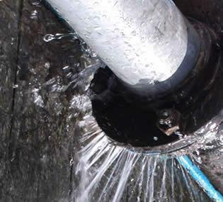 كشف تسربات المياه