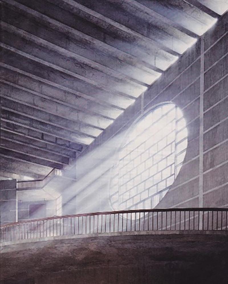 الضوء والظل في تصميم الجمعية الوطنية في دكا، بنغلاديش من تصميم لويس كان